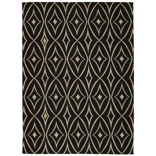 Waverly Color Motion Centro Black Area Rug by Nourison (5' x 7')