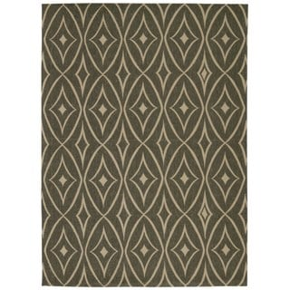 Waverly Color Motion Centro Stone Area Rug by Nourison (5' x 7')