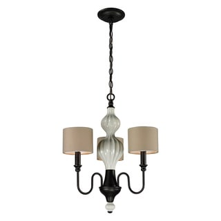 Elk Lighting Home Lilliana 3-light Cream and Aged Bronze Chandelier