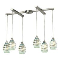 Elk Lighting Vines 6-light Satin Nickel Chandelier - Silver