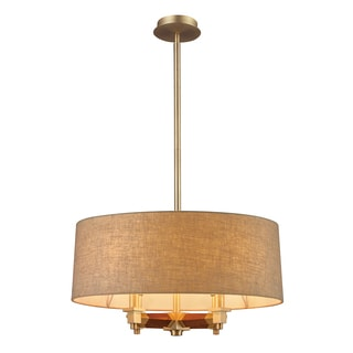 Elk Lighting Jorgenson 4-light Mahogany/ Satin Brass Pendant