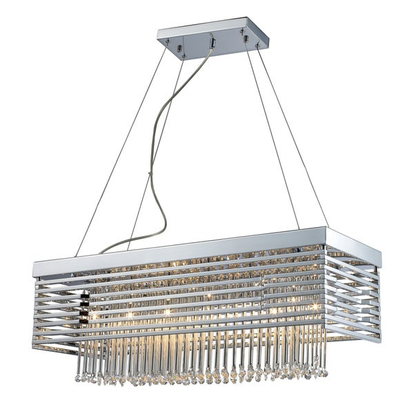 Elk Lighting Cortina 12-light Chandelier - Silver