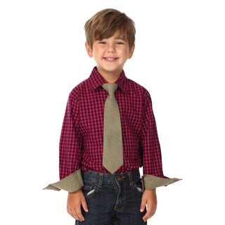 Future Trillionaire Boys Fuchsia Cotton Shirt and Tie Set