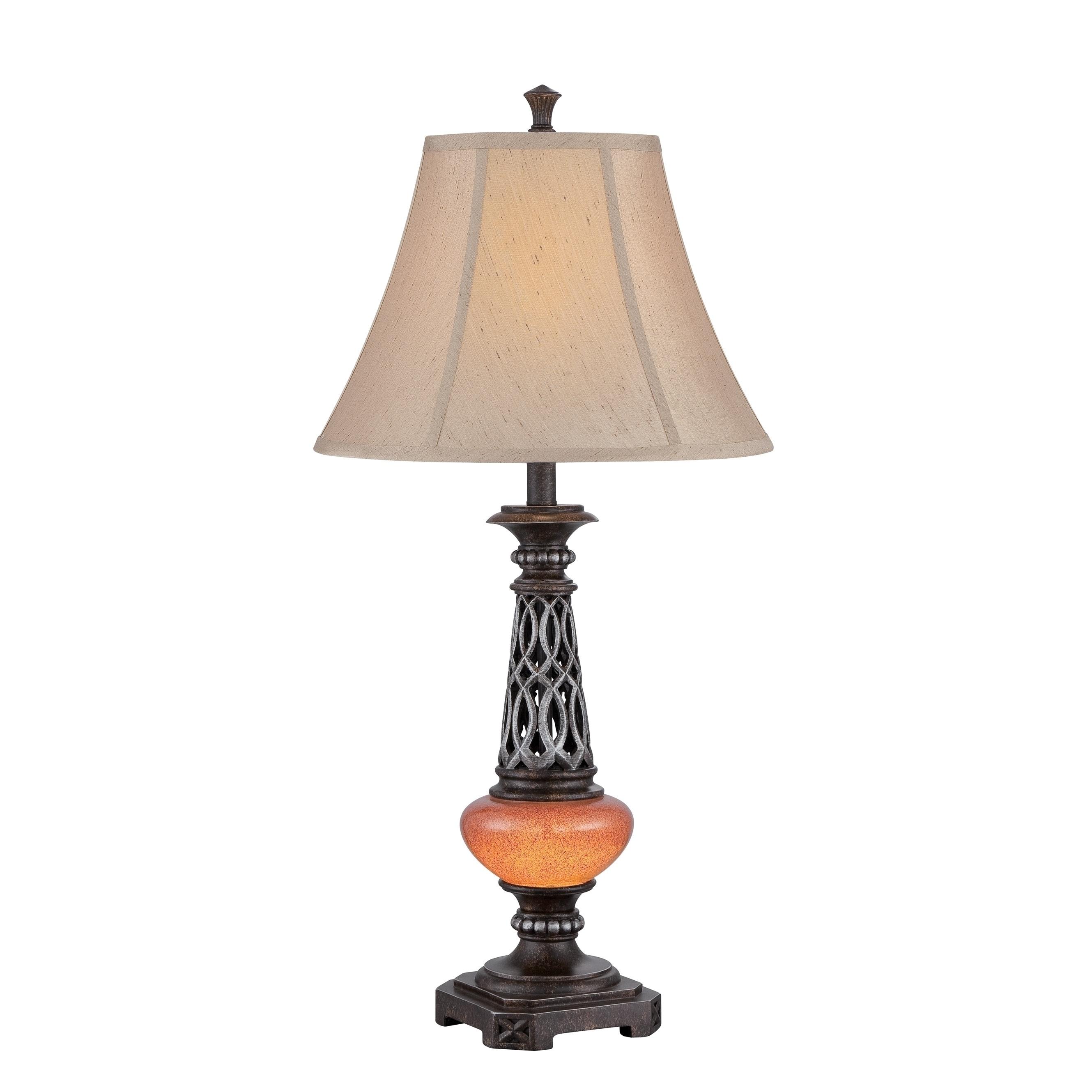 Lite source ellis 2 light table lamp dark bronze with amber and lite source ellis 2 light table lamp dark bronze with amber and beige aloadofball Images