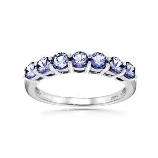 Glitzy Rocks Sterling Silver Tanzanite Ring (More options available)