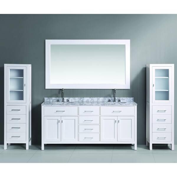 Shop Design Element London 72 Inch White Double Sink Vanity