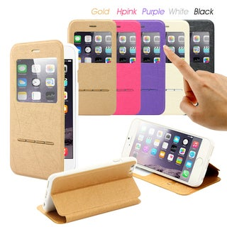 Gearonic Window View Case Cover with Answer Function for Apple iPhone 6
