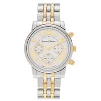 Journee Collection Women's Roman Numeral Metal Link Watch