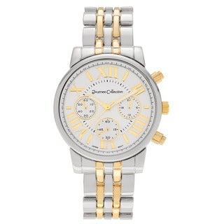 Journee Collection Women's Roman Numeral Metal Link Watch