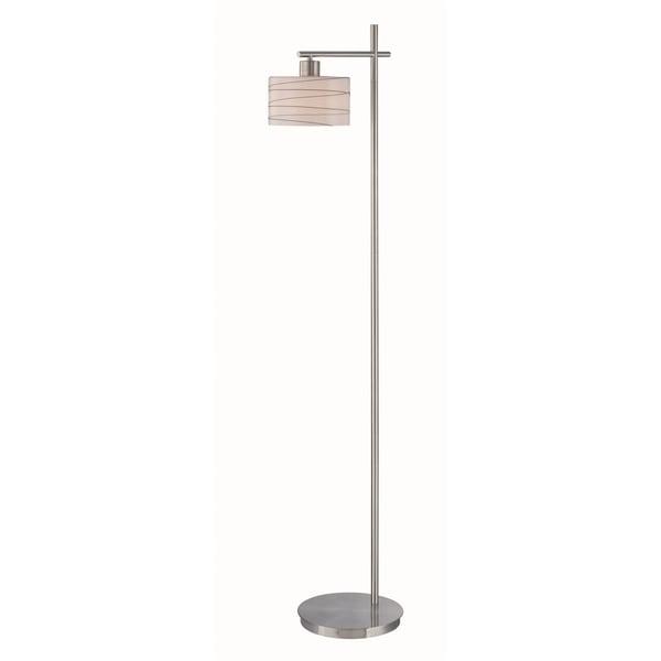 Lite Source Lenza 1-light Floor Lamp Polished Steel