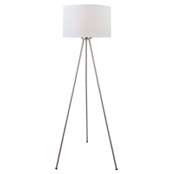 Lite Source Tullio 1-light Floor Lamp Polished Steel