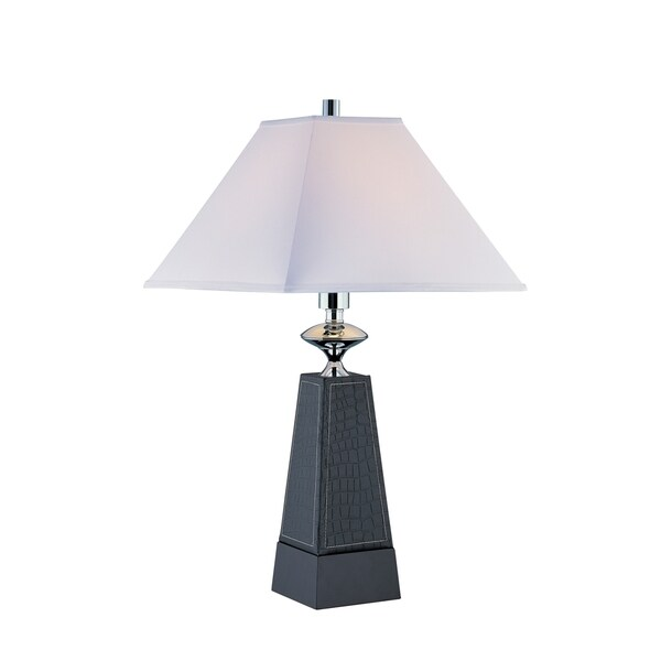 Lite Source Cameron 1-light Table Lamp Faux Leather