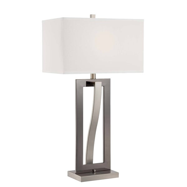 Lite Source Sandro 1-light Table Lamp Black with Polished Steel
