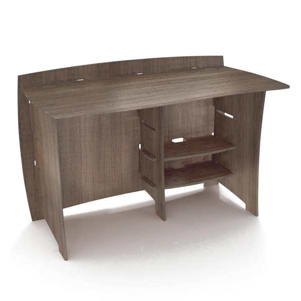 legare furniture 48 inch grey driftwood straight desk free shipping