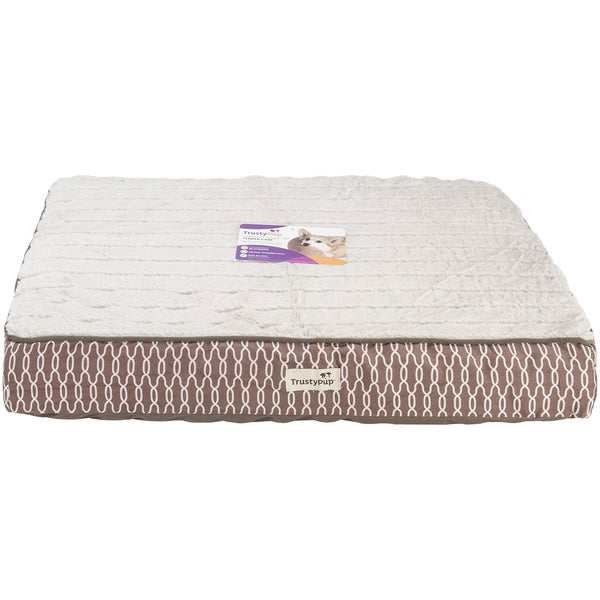 "trustypup tendercare therapeutic foam pet bed-large-40""x30""x4"" tan"