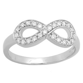Sterling Essentials Pave Cubic Zirconia Infinity Ring (4 options available)