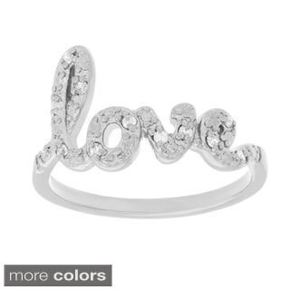 Roberto Martinez Silver Clear Cubic Zirconia Bypass Ring