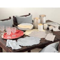 Embroidered Linen Stone Washed Placemats (Set of 4)