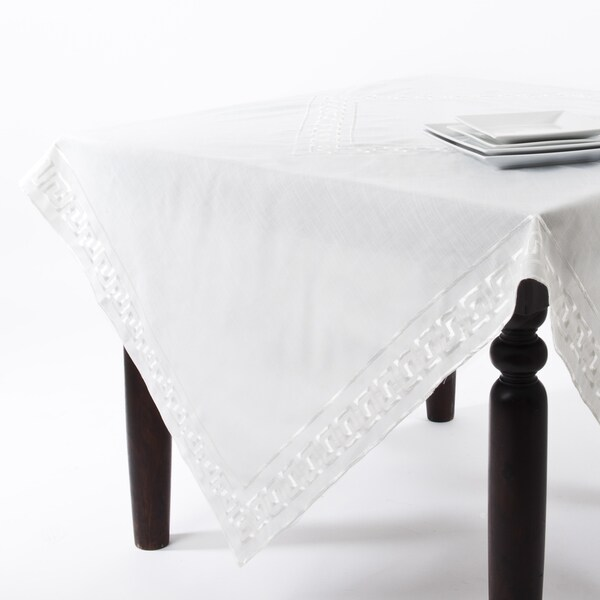 Greek Key Design Table Runner Or Tablecloth   Free Shipping On Orders Over  $45   Overstock.com   16686531