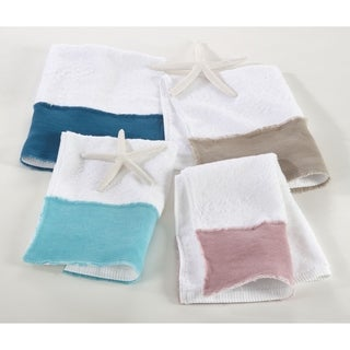 Terry Towel with Linen Border (Set of 4)