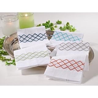 Diamond Design Guest Towel (Set of 4)