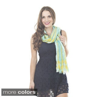 Plaid Design Polyester Scarf