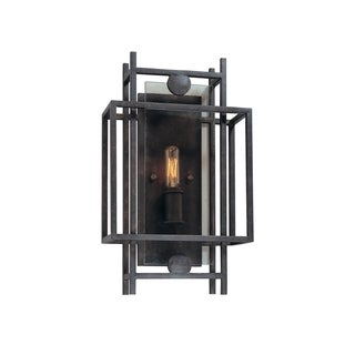 Troy Lighting Crosby French Iron and Topaz Glass 1-light Wall Sconce