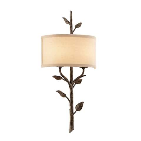 Troy Lighting Almont 2-light Bronze Leaf Wall Sconce