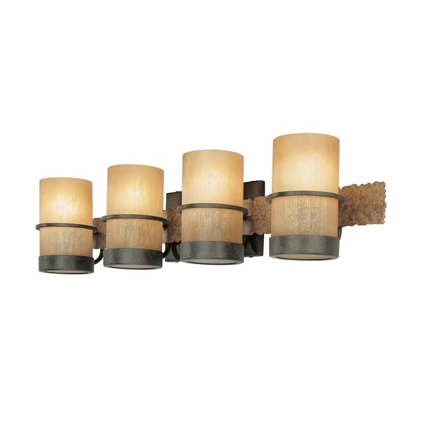 Bathroom Sconces Overstock troy lighting bamboo 4-light bath vanity - free shipping today