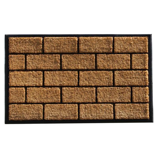 Brick Master Coir and Rubber Doormat (2' x 3')