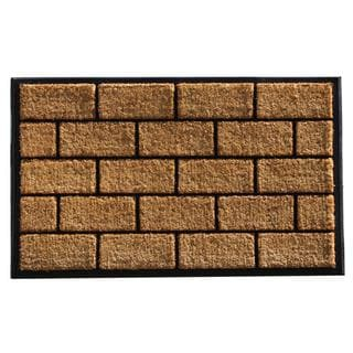 Brick Master Coir and Rubber Doormat (2' x 3')
