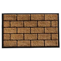 Brick Master Coir and Rubber Doormat (2'4 x 4')