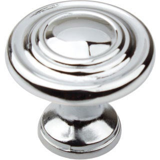 GlideRite 1.25-inch Polished Chrome 3-Ring Round Cabinet Knobs (Pack of 10