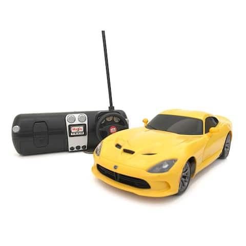 Maisto 1:24 Remote Control Yellow 2013 Dodge Viper SRT GTS