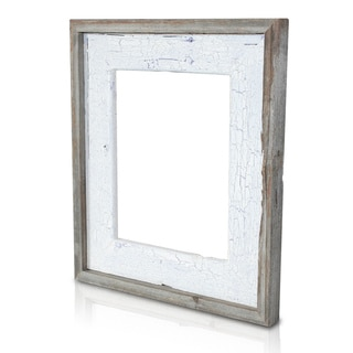 Natural Crackled Lavender Fields Recycled/ Reclaimed Wood 5x7-inch Photo Frame