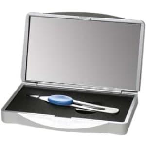 Floxite Tweezer Storage Case with 8x Mirror