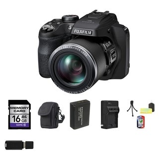 Fujifilm SL1000 16GB Black Digital Camera Bundle