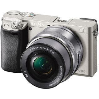 Sony Alpha a6000 24MP Silver Digital Camera with 16-50mm Lens https://ak1.ostkcdn.com/images/products/9507407/P16687060.jpg?impolicy=medium