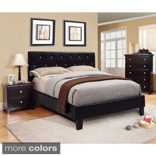 Furniture of America Mircella Tufted Leatherette Full-size Platform Bed