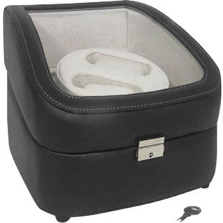 Dark Brown Leather Double Watch Winder