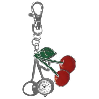 Dakota Moxie Cherries Hanging Charm Clock