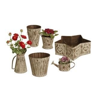 Wald Imports 6-piece Metal Planter Set