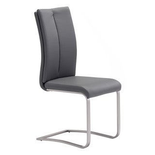 Rosemont Modern Leatherette and Stainless Steel Dining Chair (Set of 2)
