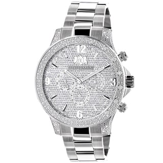 Luxurman Men's Liberty 1/2ct TDW Diamond Watch