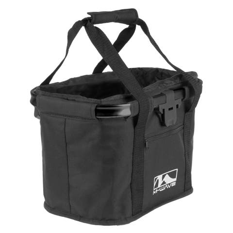 M-Wave Utrecht Black Folding Handlebar Bag