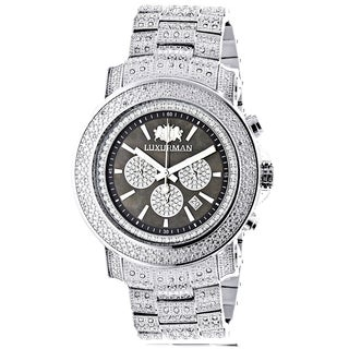Luxurman Oversized Iced Out Men's Escalade 2ct Diamond Chronograph Watch