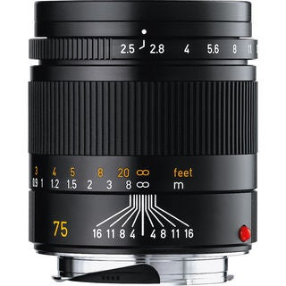 Leica 75mm f/2.5 Summarit-M Manual Focus Lens
