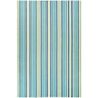 Maine Stay Striped Blue Area Rug - 3' x 5'