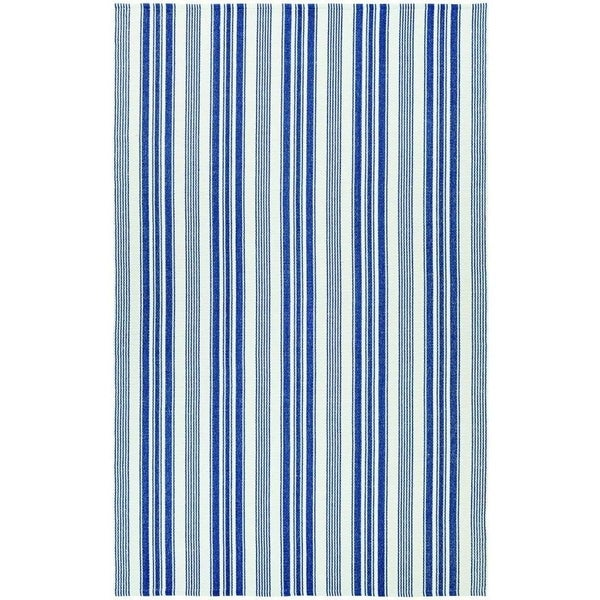 Maine Stay Striped Blue/Gray Area Rug - multi - 3' x 5'