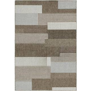 Couristan Monaco Startboard Grey- Sand Indoor/Outdoor Rug - 7'6 x 10'9